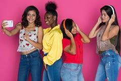 Grupo adolescente de muchachas Fotografía de archivo