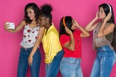 Grupo adolescente de muchachas Foto de archivo