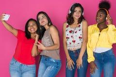 Grupo adolescente de muchachas Fotos de archivo