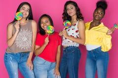 Grupo adolescente de muchachas Fotos de archivo libres de regalías