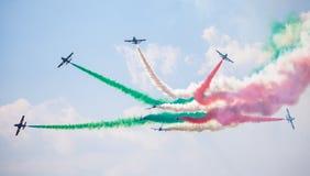 Grupo Aerobatic Frecce Tricolori Foto de Stock Royalty Free