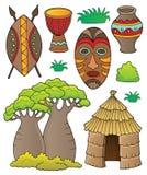 Grupo africano 1 do thematics ilustração do vetor