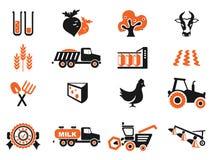 Grupo agrícola do ícone Fotos de Stock Royalty Free