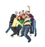 Grupo alegre Imagen de archivo libre de regalías