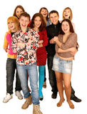Grupo alegre de gente joven. Imágenes de archivo libres de regalías