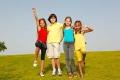 Grupo alegre de niños Foto de archivo libre de regalías