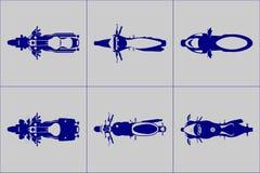 Grupo amável diferente do ícone da motocicleta ilustração stock