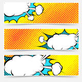 Grupo amarelo da bolha da explosão do pop art do fundo Fotos de Stock