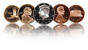 Grupo americano das moedas ilustração do vetor