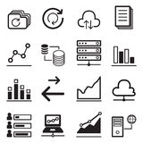 Grupo analítico do ícone do gráfico Imagens de Stock Royalty Free