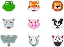 Grupo animal da cabeça Imagens de Stock Royalty Free