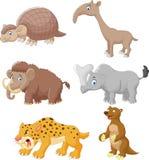 Grupo animal da coleção dos desenhos animados ilustração stock