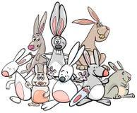 Grupo animal de los caracteres de los conejos de la historieta libre illustration