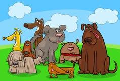 Grupo animal de los caracteres de la historieta del perro libre illustration