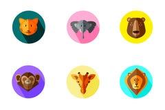 Grupo animal do ícone ilustração royalty free