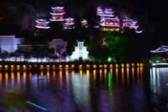 Grupo antigo da arquitetura da caverna de Zhengyuan Qinglong imagem de stock royalty free