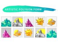 Grupo artístico do formulário do backdop do polígono do vetor Imagem de Stock Royalty Free