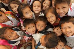 Grupo asiático de los cabritos Fotos de archivo
