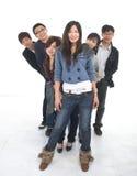 Grupo asiático joven Imagenes de archivo