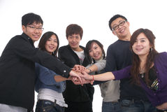 Grupo asiático joven Imágenes de archivo libres de regalías