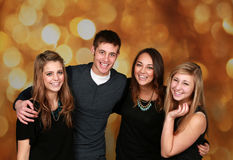 Grupo atractivo de adolescencias Fotografía de archivo