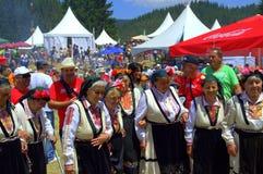 Grupo auténtico de las mujeres del folclore, Bulgaria Foto de archivo