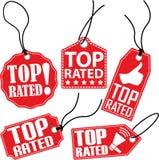 Grupo avaliado superior da etiqueta, ilustração do vetor Foto de Stock Royalty Free