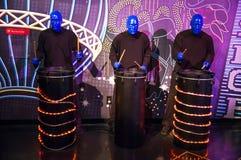 Grupo azul del hombre Imagenes de archivo
