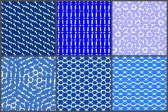 Grupo azulado do teste padrão Imagens de Stock