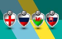 Grupo b de fútbol Europa Fotos de archivo
