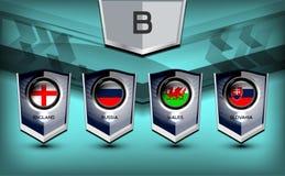 Grupo B del fútbol Imagen de archivo