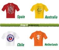 Grupo B del mundial 2014 del Fifa Fotografía de archivo libre de regalías