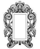 Grupo barroco fabuloso do quadro do espelho Ornamento cinzelados do vetor ricos luxuosos franceses Mobília rica vitoriano do esti Fotos de Stock Royalty Free