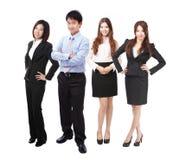 Grupo bem sucedido dos povos da equipe do negócio do comprimento cheio Fotografia de Stock