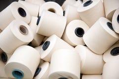 Grupo blanco de cuerdas de rosca Fotografía de archivo libre de regalías
