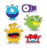Grupo bonito da coleção do monstro Imagem de Stock