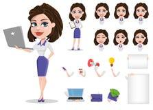 Grupo bonito da mulher de negócio Mulher de negócios no const do vestuário formal Fotos de Stock Royalty Free