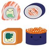 Grupo bonito de sushi Imagem de Stock