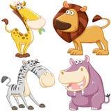 Grupo bonito do animal dos desenhos animados Imagem de Stock Royalty Free