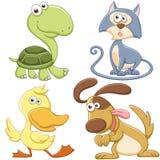 Grupo bonito do animal dos desenhos animados Foto de Stock