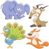 Grupo bonito do animal dos desenhos animados Fotografia de Stock