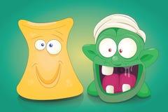 Grupo bonito do vetor dos monstro dos desenhos animados ilustração royalty free