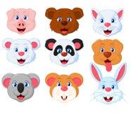 Grupo bonito principal do animal de estimação Ilustração do Vetor