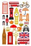Grupo britânico do ícone ilustração stock