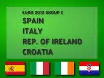 Grupo C del euro 2012 Imagenes de archivo