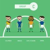 Grupo C dos jogadores de futebol ilustração do vetor