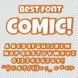 Grupo cômico do alfabeto Letras, números e figuras para ilustrações do ` das crianças, Web site, banda desenhada Fotografia de Stock Royalty Free