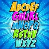 Grupo cômico do alfabeto Letras, para crianças Imagens de Stock Royalty Free