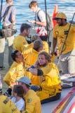 Grupo cansado mas feliz Imagem de Stock Royalty Free