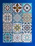 Grupo cerâmico de Talavera do mexicano Mexicano tradicional talavera cerâmico de Puebla imagens de stock royalty free
